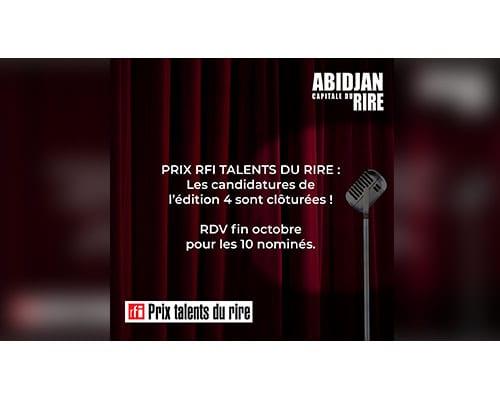 Fin des candidatures de l'édition 4 du Prix RFI Talents du rire