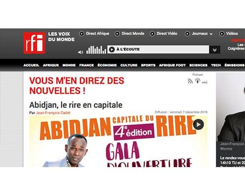 RFI – Abidjan, le rire en capitale