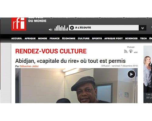 "RFI – Abidjan ""Capitale Du Rire"" où tout est permis"