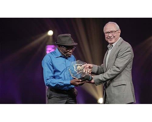 Michel Gohou, gagnant du Prix du meilleur comédien