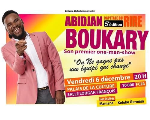 Boukary la star montante africaine, en one-man show inédit le vendredi 6 décembre au Palais de la Culture