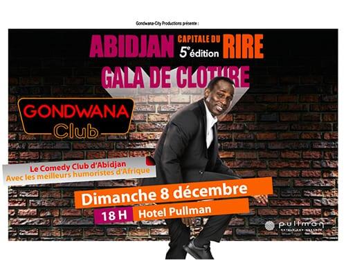 Gala de clôture du Gondwana Club Pullman Abidjan le dimanche 8 décembre