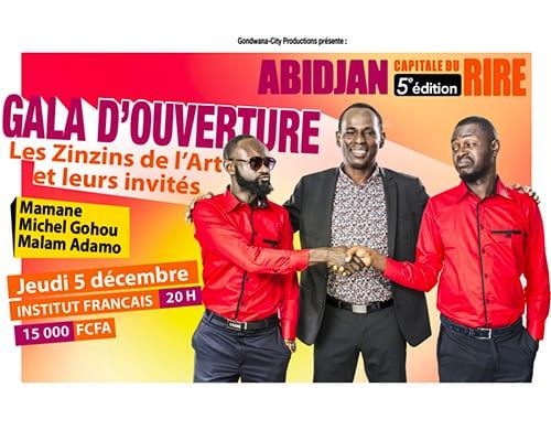 Les Zinzins de l'Art, célèbre duo ivoirien en gala d'ouverture le jeudi 5 décembre 2019